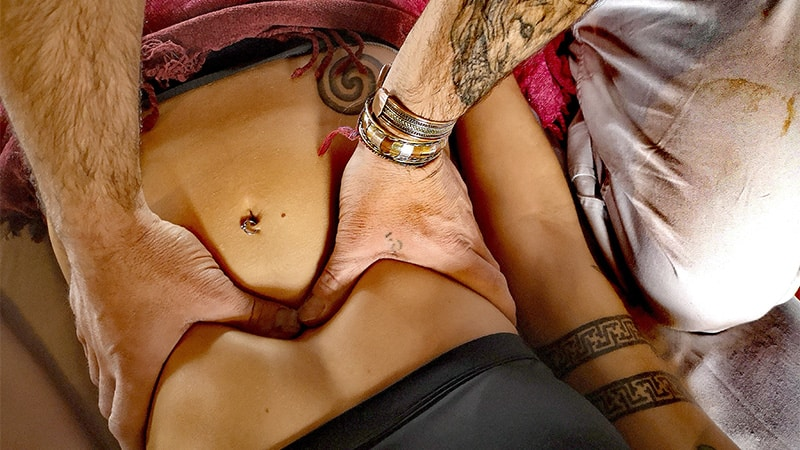 svolgimento di un massaggio