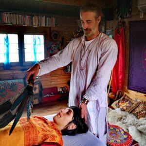 svolgimento di una terapia sciamanica individuale
